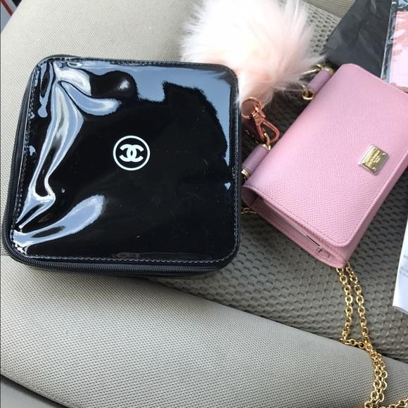 2d7fe54e5caa Authentic Chanel Beauty black patent makeup box