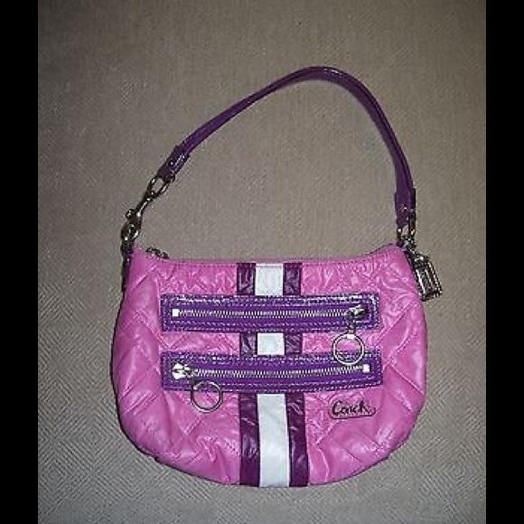 e87f52a3d8 Coach Handbags - COACH Poppy SKI BUNNY Top Handle PURSE in Berry