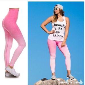 Pink Ombré Workout Leggings