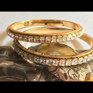 Jewelry - 🌹🌹Beautiful cut rhinestone Statement bracelets🌹