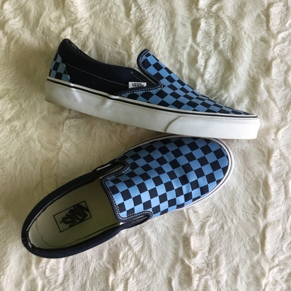 92d8c1c7bbfa92 Vans Dress Blues Golden Coast Checkered SlipOns 10.  M 596952b5bf6df5053b0071b8