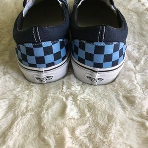 9e2a822cad7b7d Vans Shoes - Vans Dress Blues Golden Coast Checkered SlipOns 10