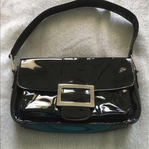💥Alfani patent leather purse w/silver buckle
