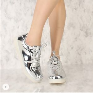 Shoes - Metallic Sneakers