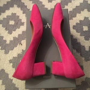 7f457bb644fb Aquatalia Shoes - Aquatalia Pheobe Diamond Suede Block Heel