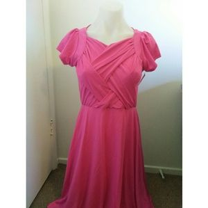 Hot pink shabby Apple dress extra small