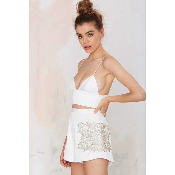 KEEPSAKE the Label Shorts - Nasty gal keepsake shadow play white shorts