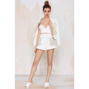 KEEPSAKE the Label Shorts - Nasty gal keepsake shadow play white shorts