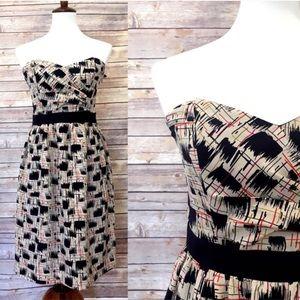 Anthro Burlapp Blurred Shapes silk dress