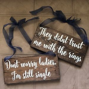 Other - 2 Ring Bearer Wood Signs