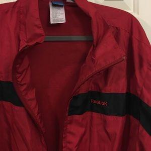 💙Men's Reebock  jacket dark red 2XL