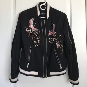 Trouvé embroidered bomber jacket