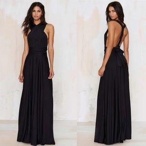 Nasty Gal Voltage multi wear maxi dress
