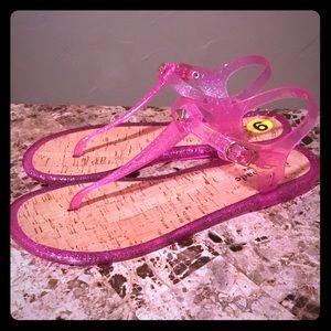 New Kate Spade Glitter Sandels Sandals Pink Size 9