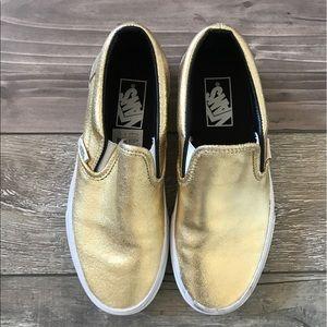Vans Gold  Slip On Sneakers