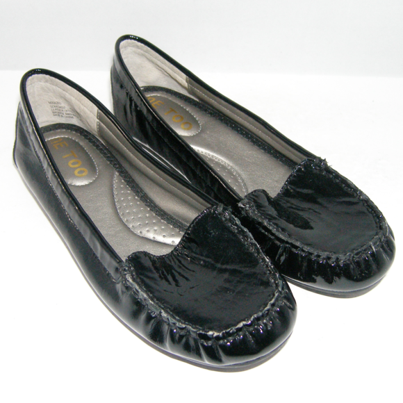 me too Shoes | Soledad2 Patent Leather Round Toe Flat 6m ...