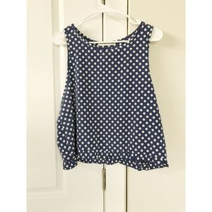 Tops - Polka dot crop with ruffle hem