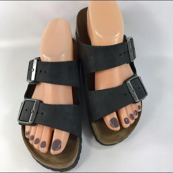 154947a408 Birkenstock Shoes - Birkenstock Arizona Soft Footbed black SZ 37 6-6.5