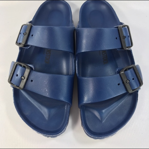 ab82f72cb52a Birkenstock Shoes - Birkenstock Arizona Plastic Sandals Blue 38 7-7.5