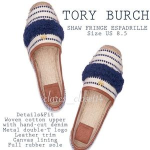 💯% Authentic Tory Burch Shaw Fringe Espadrille