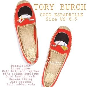 💯% Authentic Tory Burch Coco Espadrille