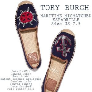 💯% Authentic Tory Burch Maritime Mismatched