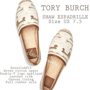 💯% Authentic Tory Burch Shaw Espadrille