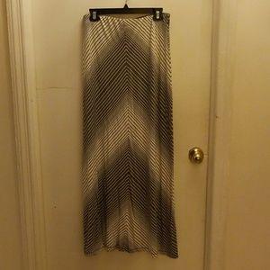 Max studio maxi striped skirt