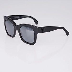 b108e50da9 CHANEL Accessories | 5357 C50126 Blackdark Mirror Sunglasses | Poshmark