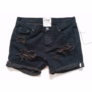 One Teaspoon Chargers Destroyed Jean Shorts