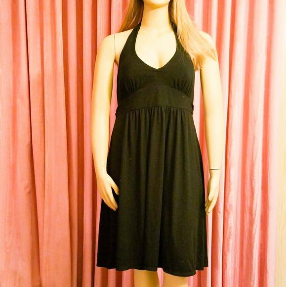 Faded Glory Dresses Plus Size Black Stretch Halter Dress Size 2x