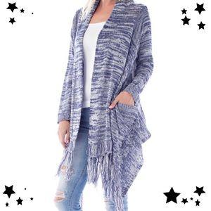 Sweaters - 💖Gorgeous Draped fringe cardigan