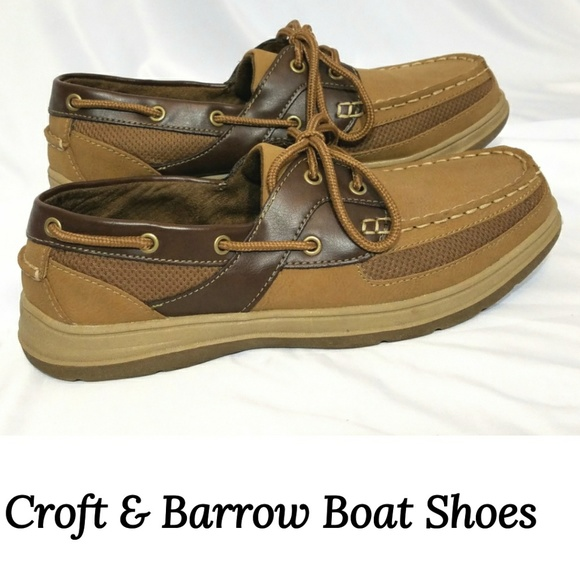 Croft Barrow Leather Vented Boat Shoes