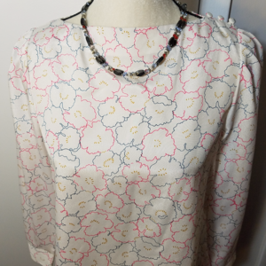 Isabelle Vintage 80's Puff Sleeved Floral Blouse