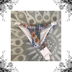 Red Carter Reversible Cheeky Bikini Bottoms