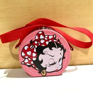 Betty Boop Novelty Pink Red Tin Collectors Purse