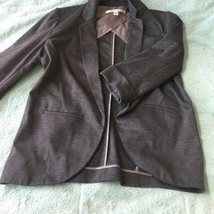 LC Lauren Conrad Gray 3/4 Sleeve Blazer