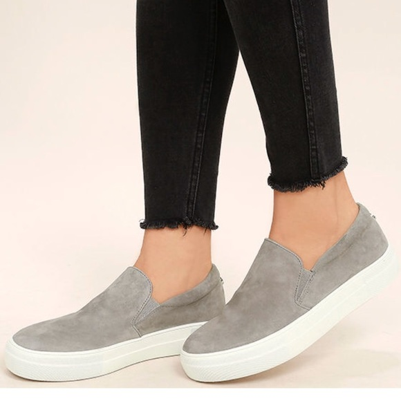 347fbcdc575 Steve Madden gills gray suede leather sneakers. M 5969a1959c6fcf208a00f127