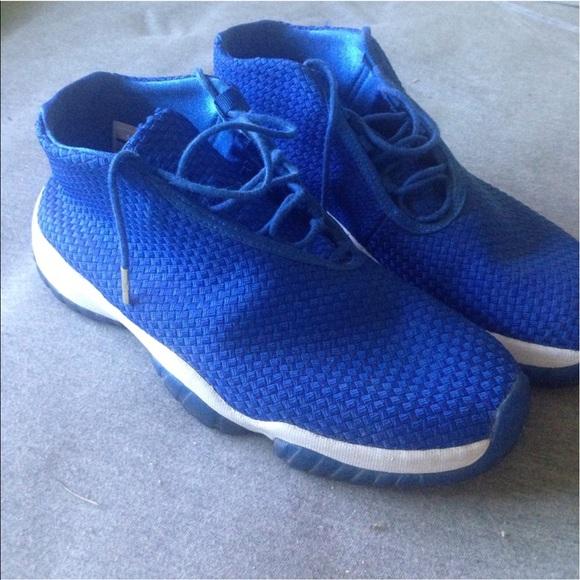 quality design 0dfeb e697a Men s Jordan Future Low Royal Blue White 10.5 EUC