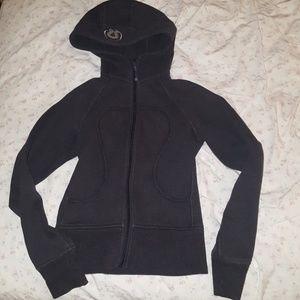 Lululemon Scuba Hoodie Jacket Charcoal Grey Size 2