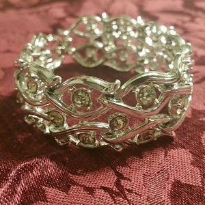 Vintage silver & rhinestone bracelet.