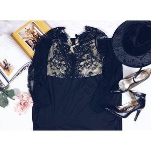 NWT Lace Sheer Boho Witchy Maxi Dress L