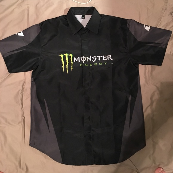 05d87cdee Monster Energy Drink Racing Button Up. M_5969b5f59c6fcf208a013e81