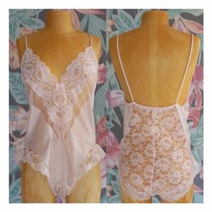 Tops - Vintage Pink Lace  One Piece