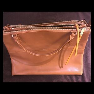 Coach leather briefcase or messenger bag