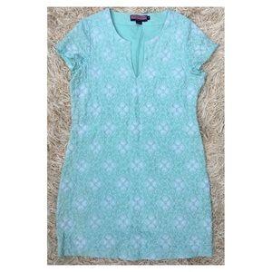 Vineyard Vines Aqua Embroidered Tunic Dress