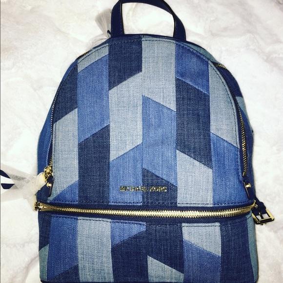 abe63af87f49b0 ... where to buy michael kors patchwork denim backpack a7466 0851d