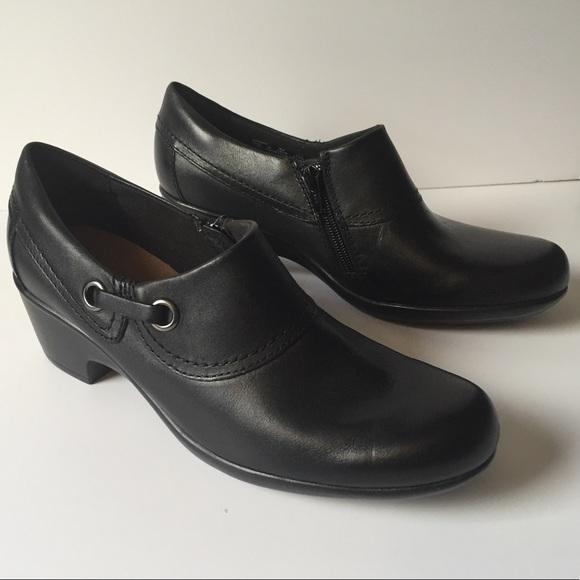 Clarks Danby Black Shoes