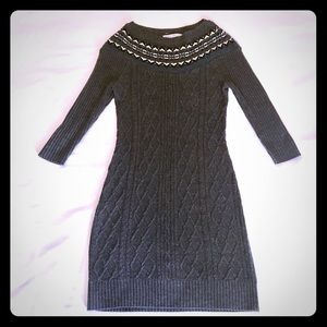 Maggy London gray sweater dress