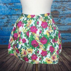Top shop topshop floral size 2 mini skirt